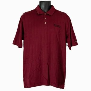 Men's Nike Tiger Woods Red Polo Shirt Size L